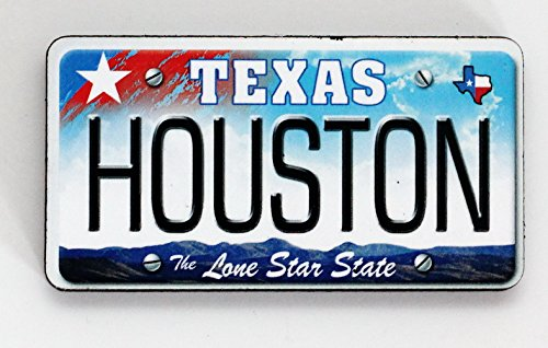 houston texas license plate wood fridge magnet 3 x 1 5 vehicles parts vehicle parts. Black Bedroom Furniture Sets. Home Design Ideas