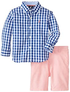 Nautica Baby-Boys Infant 2 Piece Woven with Short Set from Nautica