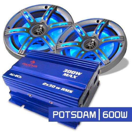 """Car Hifi Set """"Potsdam"""" kompaktes 2.0 System 600W"""