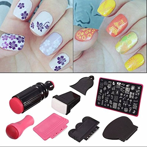 Nail Art Kit With Stamping: (VIDEO Review) Nail Art Stamper,DANCINGNAIL Beauty Lady