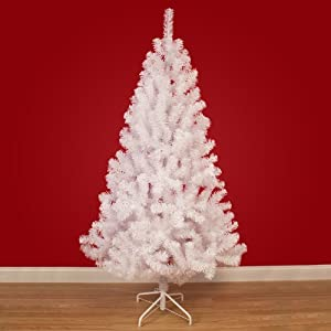 7.5ft (229cm) White Hudson Pine Artificial Christmas Tree ...