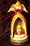 Jim Shore - Heartwood Creek - Wind-Up Musical Lit Angel w/Revolving Nativity by Enesco - 4006648