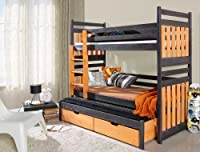 Sambor Triple Children Bunk Bed UK Standard & Shorter Size