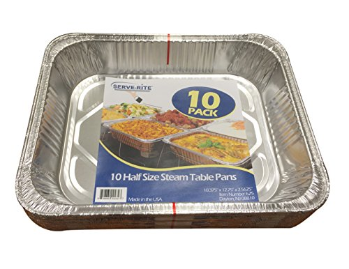 Serve-Rite 201 Half Pans, Aluminum