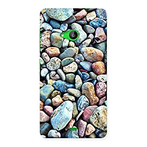 Impressive Water Pebbels Multicolor Back Case Cover for Lumia 535