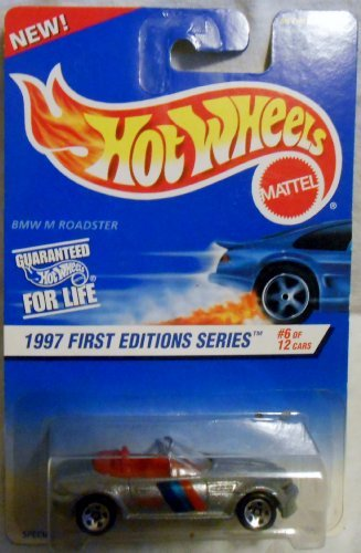 Mattel Hot Wheels 1997 First Editions 1:64 Scale Silver BMW M Roadster Die Cast Car #006 - 1