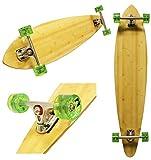 Bamboo Pintail Longboard 9.75×46 Cruiser Skateboard PARIS Trucks ABEC 9 Bearings