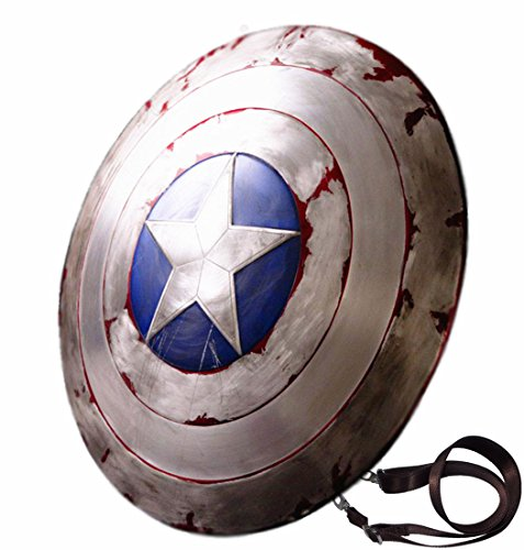 Gmasking Aluminum Alloy Captain America Adult Shield 1:1 New Battle Version Replica
