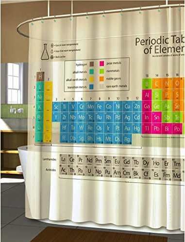 Science is Awesome Periodic Table of Elements EVA Shower Curtain 70Wx72L (Period Table Shower Curtain compare prices)