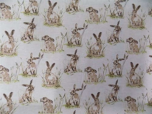 wild-hares-rabbits-beige-cotton-high-quality-fabric-material-sold-by-the-half-metre