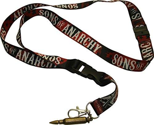Sons Of Anarchy Logo proiettile portachiavi cordino