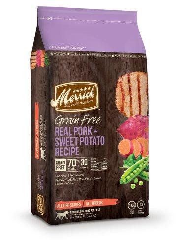 Merrick Grain Free 25-Pound Real Pork And Sweet Potato Recipe Dog Food, 1 Bag