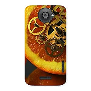 Special Orange Machines Back Case Cover for HTC One X