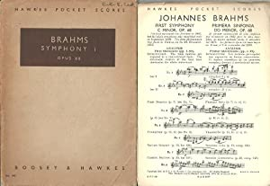Brahms Symphony 1 Opus 68 Hawkes Pocket Scores by Boosey & Hawkes LTD