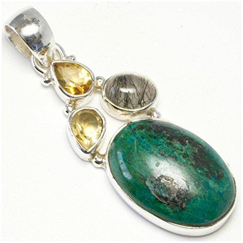 stargems-tm-chrysocolle-naturelle-citrine-et-quartz-rutile-poli-a-quartz-design-unique-argent-925-pe