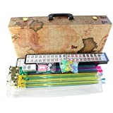 """American Mahjong Set in World Map Case with 18"""" Set of 4 Pushers, 166 Tiles(Mah Jong mah Jongg Mahjongg)"""