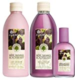 Yves Rocher Blackberry 3-piece Bath/ Shower Set. Imported from France by Yves