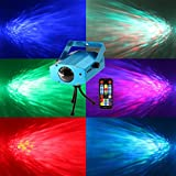 PARTY LIGHTS DISCO BALL-Coidea 7colors Ocean Wave Projector Light Show for parties DJ Karaoke Wedding Chrismas Outdoor and more(with Remote)