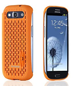 Samsung Case, Anymode Galaxy S3 Case, (Check AT&T, Verizon, Sprint, T-Mobile Wireless Mobile) Retail Package - Coin Stand Function (orange)