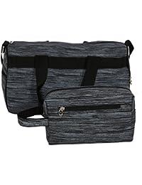 Balachia Gym Bag With Free Toiletry Bag (Grey)