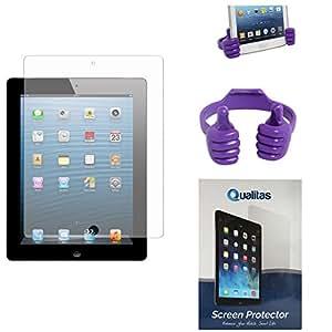 Qualitas Anti-Glare Anti-Scratch Anti-Fingerprint Matte Screen Protector for iBall Slide 1026-Q18 + Mobile Holder Hand Stand