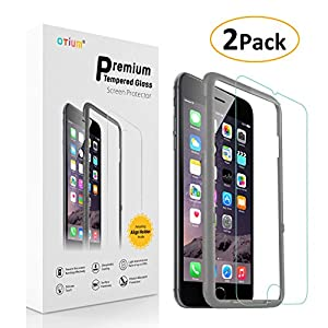 (2-Pack) Otium iPhone 6 Plus / 6S Plus Screen Protector Tempered Glass with Applicator HD Oleophobic Anti Scratch Anti Fingerprint, Round Edge Ultra Clear for iPhone 6 Plus / 6s Plus 5.5