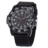 WOLFTEETH 腕時計 スポーツウォッチ クオーツ アナログ 防水 時計  アウトドア ミリタリー 男女兼用 ブラック 3020