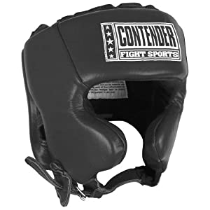Contender Fight Sports Competition Headgear, Black, Medium
