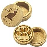 猫用 桐製乳歯ケース【高級桐天然木使用】/マルチケースとしてもお使いいただけます。 (シルエット)