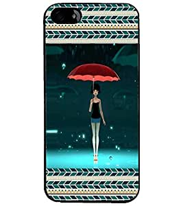 PrintDhaba Umbrella Girl D-3165 Back Case Cover for APPLE IPHONE 4S (Multi-Coloured)