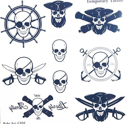 Spestyle dernières ressembler de réel de Konzeption nombreux Crânes terribles autocollant de tatouage temporaire