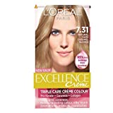 L'Oreal Paris Excellence Hair Colour Kit, Natural Dark Caramel Blonde Number 7.31 - Pack of 3