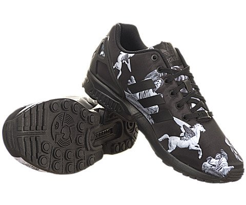 Adidas Men's ZX Flux Deep Forest Sneakers adidas samoa kids casual sneakers