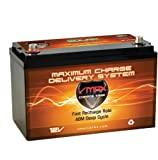 VMAXTANKS VMAXSLR85 AGM deep cycle 12V 85AH battery. For Use with PV Solar Panels, wind turbine, power backup generator, off grid, sump pump, and any other heavy duty application