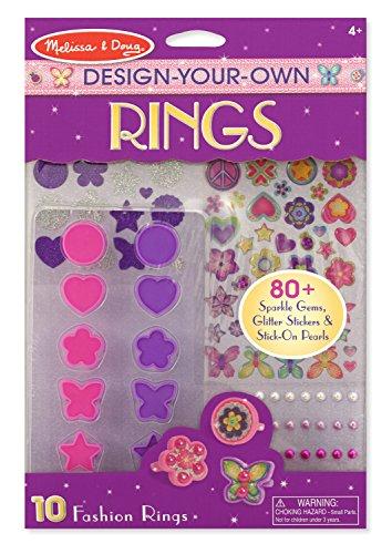 melissa amp doug designyourown rings set with 10 fashion