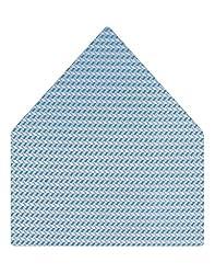 Tiekart Self Design Micro Fibre Pocket Square (Ps310_Blue)