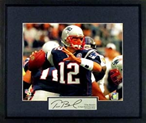 Tom Brady New England Patriots In the Pocket 11x14 Photograph (SGA Signature Series)... by Sports Gallery Authenticated