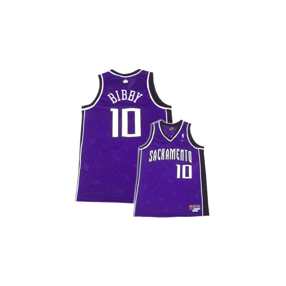 Nike Sacramento Kings #10 Mike Bibby Purple Swingman Jersey