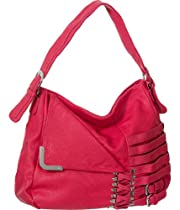 Fuchsia 'Belted & Laced' Hobo