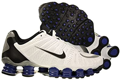 Nike Shox TLX Mens Running Shoes White/Black-Old Royal-Metallic Silver 488313-140-7.5