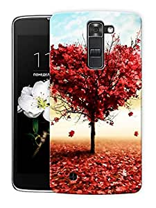 """Heart Tree In Spring Printed Designer Mobile Back Cover For """"LG K10"""" By Humor Gang (3D, Matte Finish, Premium Quality, Protective Snap On Slim Hard Phone Case, Multi Color)"""