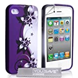 iPhone 4 / 4S Purple And Grey Floral Caseby Yousave Accessories