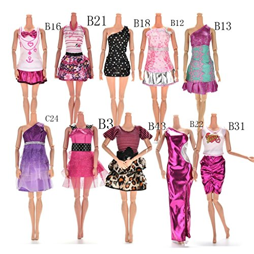 Buytra-10-Styles-Doll-Accessories-Handmade-Fashion-Dresses-Clothes-for-Barbie-Doll