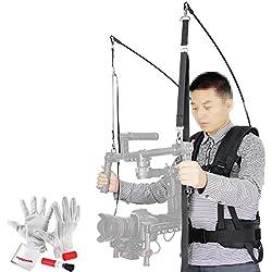 Laing V9 Wasserdichte Stabilisator Weste 8.8-24.2lb/ 4-11kg Ladekapazität mit Professional Klettern Karabiner für DJI Ronin DJI Ronin-M und andere Gimbal DSLR Cameras