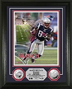 NFL New England Patriots Deion Branch Silver Coin Photo Mint by Highland Mint
