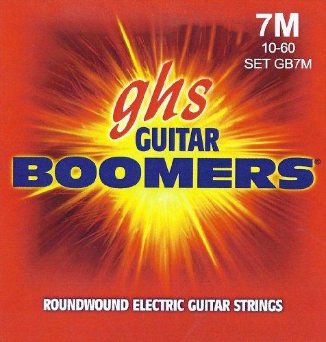 Ghs Strings Electric Guitar Boomer Set (Medium Nickel Steel, 7-String)