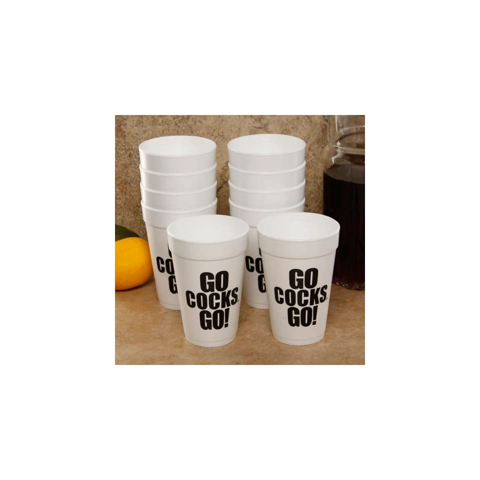 NCAA South Carolina Gamecocks 10 Pack 16oz. Team Slogan Foam Cups
