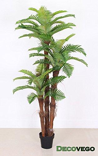 Palme-Palmenbaum-Knigspalme-Cocospalme-Kunstpflanze-Kunstbaum-Knstliche-Pflanze-Echtholz-180cm-Decovego