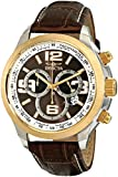 Invicta Men's 0147 II Collection Chronograph Brown Leather Band Watch