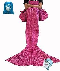 LAGHCAT Mermaid Tail Blanket Fleece and Mermaid Blanket for Adult, Sleeping Bags (31.5
